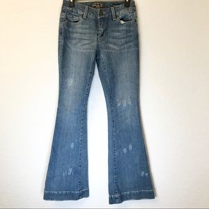 Seven7 Sexy Flare Distressed Jeans Size 26